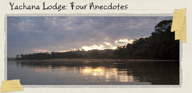 Yachana Lodge: Four Anecdotes
