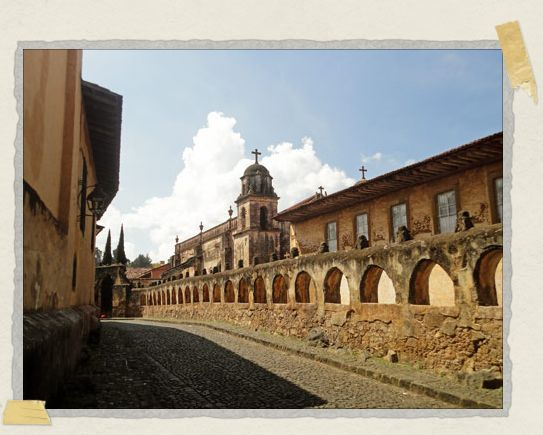 'A centuries-old cobblestone street in the picturesque mountain town of Patzcuaro