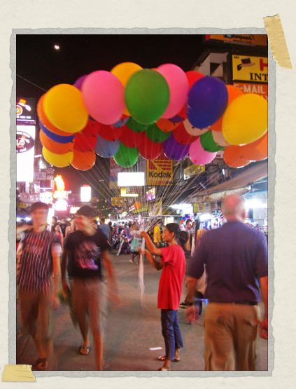 'Khao San Road: Home to everything colorful, including balloons!