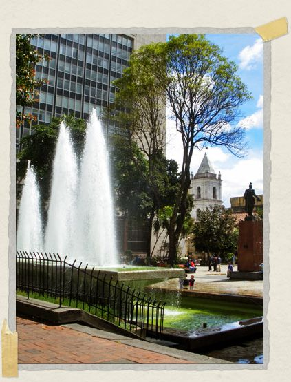 'Parque Santander, located in front of Bogota's famous Gold Museum, was a great spot for people watching