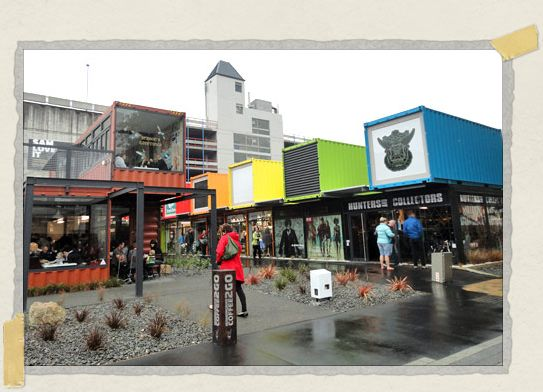 'At Cashel Mall, shipping containers have been turned into something very special