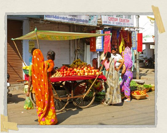 'A gorgeous array of colors often met our eyes on every street in India