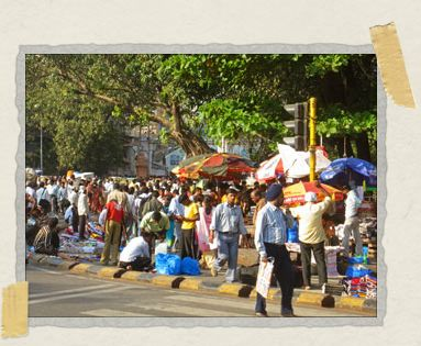 'Just your average walk to the train station in Mumbai: a bit crowded, very colorful, and always an adventure