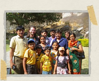 'This adorable family from the state of Gujarat in India were tourists too and asked Tim to pose for a family photo with them