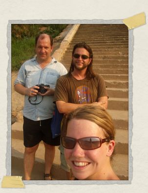 'The three musketeers: sweating and smiling in Luang Prabang, Laos