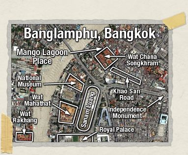 'Mango Lagoon Place is located right in the heart of the Rambutri neighborhood.