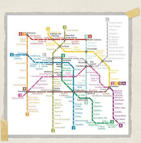 'Map of the Mexico City Metro