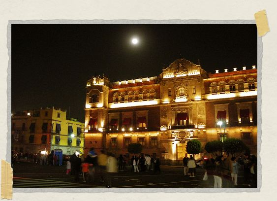'A full moon over the Palacio Nacional