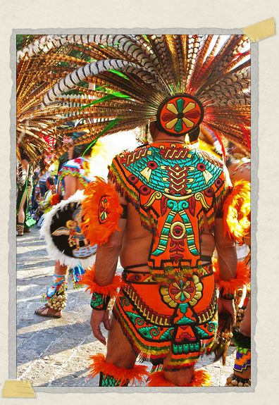 'A dancer in full dress at the Festival de Guadelupe
