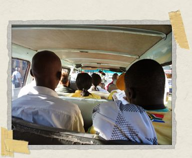 'Trundling along in a minibus taxi