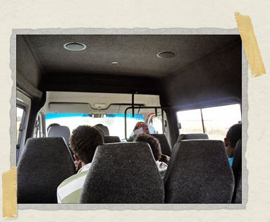 'Our posh minibus taxi from Jozi to Rustenburg, at a fraction the cost of a regular bus