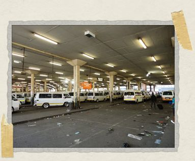 'Park Central taxi rank in Joburg: from here you can cheaply get virtually anywhere in town