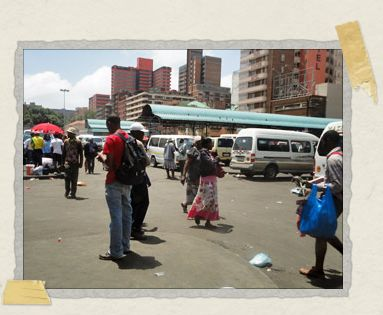 'One of the long-distance taxi ranks in Joburg