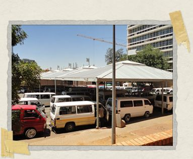 'The Sandton taxi rank, just behind Nelson Mandela Square