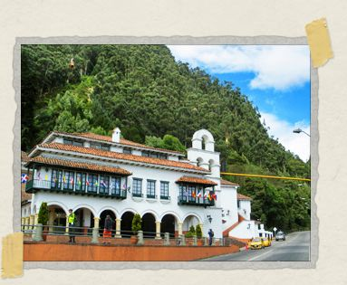 'Almost like a Swiss chalet, the ticket office at the foot of Monserrate looks quite inviting