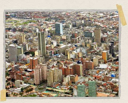 'Even from this distance, the multiple colors of Bogota's buildings are clear