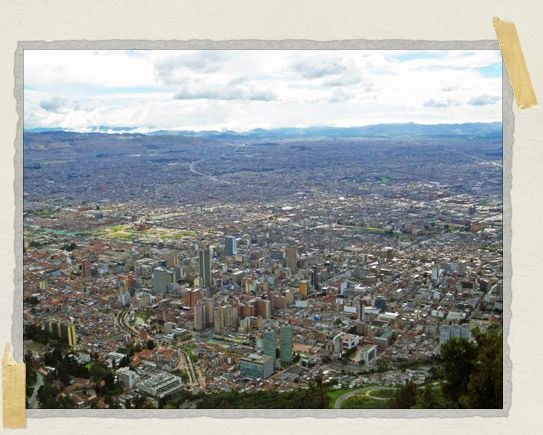 'I don't think we realized how massive Bogota actually was until we had this vantage point from the top of Monserrate