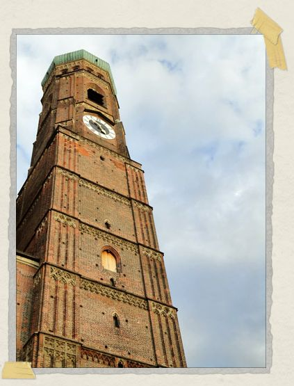 'One of the bell towers of Frauenkirche
