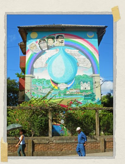 'Murals can be found throughout Nicaraguan cities celebrating their recent history