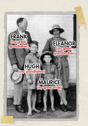 'Frank and family, circa 1924