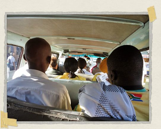 'Rumbling through downtown Jozi in a minibus taxi